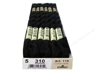DMC Pearl Cotton Skein Size 5  Black (12 skeins)