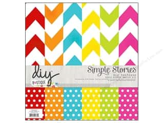 Simple Stories Paper 12 x 12 in. DIY Boutique Simple Basics Kit