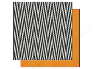 Simple Stories: Simple Stories 12 x 12 in. Paper DIY Boutique Herringbone & Orange (25 sheets)
