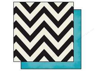 Simple Stories: Simple Stories 12 x 12 in. Paper DIY Boutique Chevron & Teal (25 sheets)