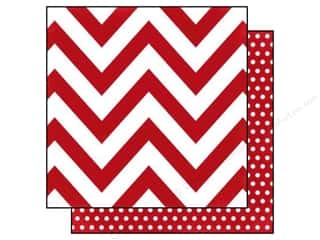 Simple Stories: Simple Stories 12 x 12 in. Paper DIY Boutique Red Chevron & Dots (25 sheets)