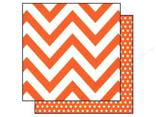 Simple Stories: Simple Stories 12 x 12 in. Paper DIY Boutique Orange Chevron & Dots (25 sheets)