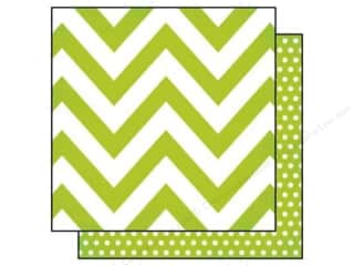 Simple Stories: Simple Stories 12 x 12 in. Paper DIY Boutique Green Chevron & Dots (25 sheets)