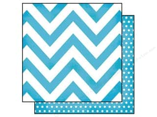paper blue: Simple Stories 12 x 12 in. Paper DIY Boutique Teal Chevron & Dots (25 sheets)