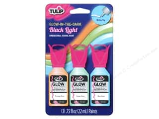 Tulip Dimensional Fabric Paint Set 3 pc. Glow-In-The Dark Black Light