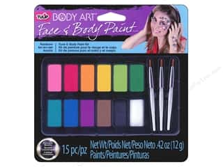 craft & hobbies: Tulip Body Art Face & Body Paint Palette Rainbow