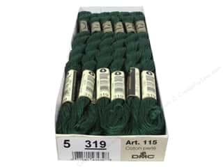DMC Pearl Cotton Skein Size 5 #319 Shadow Green (12 skeins)
