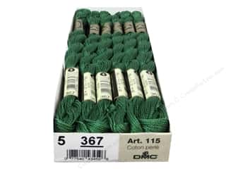 yarn & needlework: DMC Pearl Cotton Skein Size 5 #367 Dark Pistachio Green (12 skeins)