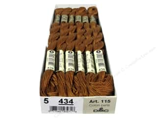yarn & needlework: DMC Pearl Cotton Skein Size 5 #434 Light Brown (12 skeins)