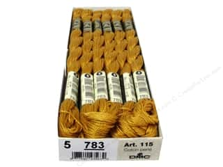 yarn & needlework: DMC Pearl Cotton Skein Size 5 #783 Medium Topaz (12 skeins)