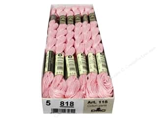 yarn & needlework: DMC Pearl Cotton Skein Size 5 #818 Baby Pink (12 skeins)