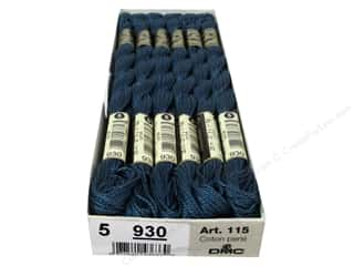 yarn & needlework: DMC Pearl Cotton Skein Size 5 #930 Dark Ant Blue (12 skeins)