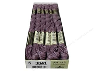 yarn & needlework: DMC Pearl Cotton Skein Size 5 #3041 Medium Antique Violet (12 skeins)