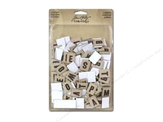 Tim Holtz Idea-ology Alpha Chips Elementary