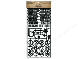 Stitchery Frame Parts / Quilting Frame Parts: Tim Holtz Idea-ology Alpha Parts Framed