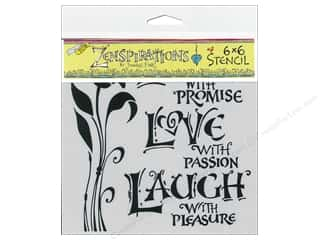 ruler: The Crafter's Workshop Template 6 x 6 in. Live Love Laugh