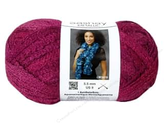 shimmer yarn: Red Heart Boutique Sashay Yarn #1700 Metallic Pink Topaz 30 yd.