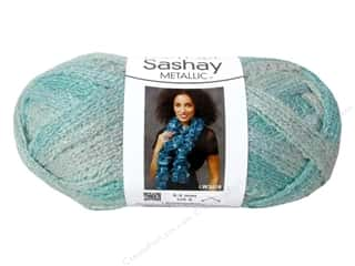 shimmer yarn: Red Heart Boutique Sashay Yarn #1961 Metallic Icy Mint 30 yd.
