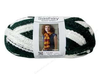 Red Heart Boutique Sashay Team Spirit: Red Heart Boutique Sashay Team Spirit Yarn #1988 Green/White 30 yd.