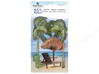 Paper House Sticker 3D Beach Chair & Palms