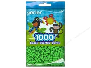 beading & jewelry making supplies: Perler Bead 1000 pc. Bright Green