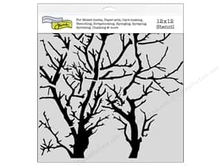 ruler: The Crafter's Workshop Template 12 x 12 in. Branches Revised