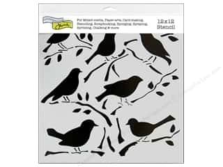 Designers Workshop: The Crafter's Workshop Template 12 x 12 in. Birds