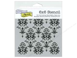 The Crafter's Workshop Template 6 x 6 in. Damask