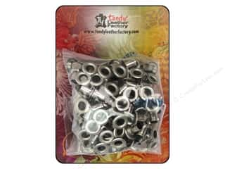 craft & hobbies: Leather Factory Eyelet 3/16 in. Nickel 100 pc.