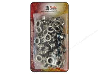 craft & hobbies: Leather Factory Eyelet 1/4 in. Nickel 100 pc.