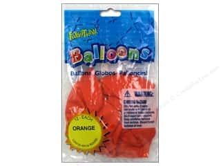 Pioneer Funsational Balloons 12 in. 12 pc. Orange