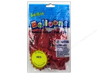 """Pioneer National Latex Balloons Funsational Deco 12"""" 12pc Red"""