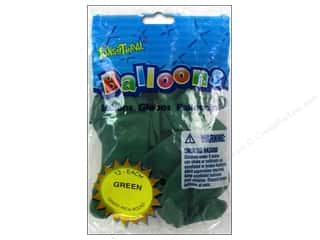 Pioneer Funsational Balloons 12 in. 12 pc. Green