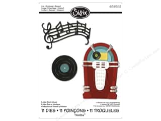 Sizzix Thinlits Die Set 11PK Juke Box & Music by Jen Long