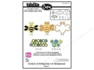 hexagon: Sizzix Dies Triplits Bee by Stephanie Barnard