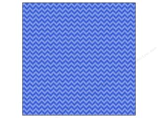 Doodlebug 12 x 12 in. Paper Sugar Coated Chevron Blue Jean (25 sheets)
