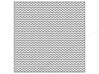 Doodlebug 12 x 12 in. Paper Sugar Coated Chevron Metallic Silver (25 sheets)
