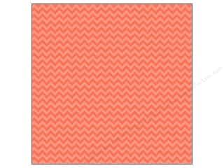 cardstock Iridescent: Doodlebug Paper 12 x 12 in. Sugar Coated Chevron Coral (25 sheets)