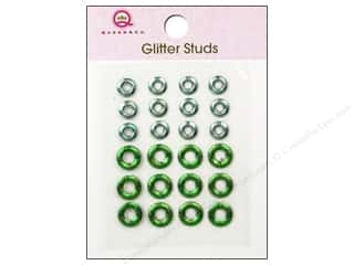Queen & Company: Queen&Co Sticker Glitter Studs Lifesaver Green