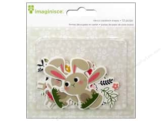 Spring Paper: Imaginisce Die Cut Welcome Spring Bunny Friends