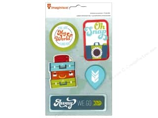 Clearance Pictura Luggage Tag: Imaginisce Stickers Perfect Vacation My World 3D