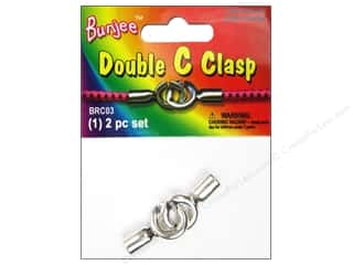 Pepperell Bungee Cord Bracelet Double C Clasp 1pc