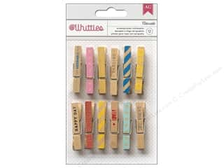 American Crafts Whittles Clothespins 12 pc. Adorable