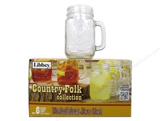 Crisa by Libbey Glass Country Folk Drinking Jar (6 jars)