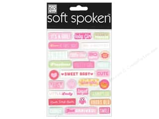 Me & My Big Ideas Soft Spoken Stickers It's A Girl Pebbles