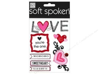 scrapbooking & paper crafts: Me & My Big Ideas Soft Spoken Stickers Sketchy Love