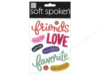 Me & My Big Ideas Soft Spoken Stickers Friends Love Smile