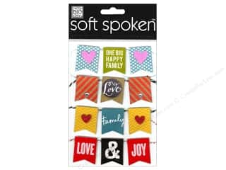 Me & My Big Ideas Soft Spoken Stickers Banner Family