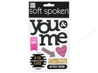 scrapbooking & paper crafts: Me & My Big Ideas Soft Spoken Stickers True Love You & Me