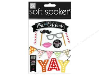 scrapbooking & paper crafts: Me & My Big Ideas Soft Spoken Stickers Time To Celebrate